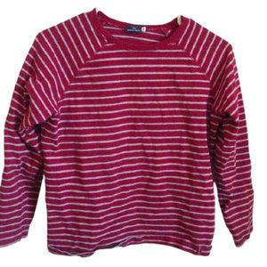 Red Striped Long Sleeve Shirt Boy Size 14